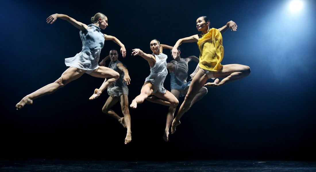 SYDNEY, AUSTRALIA - MARCH 25: Dancers perform during a media preview at Roslyn Packer Theatre on March 25, 2019 in Sydney, Australia. Sydney Dance Company's 50th Anniversary Triple bill features work from Australian choreographic talents Rafael Bonachela, Gabrielle Nankivell and Melanie Lane. (Photo by Don Arnold/WireImage)
